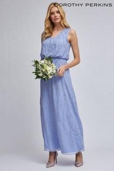 Dorothy Perkins Embellished V neck Maxi Dress