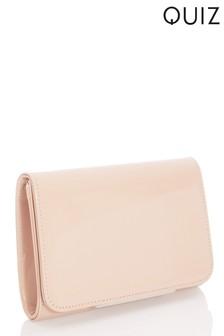 Quiz Faux Leather Strap Bag