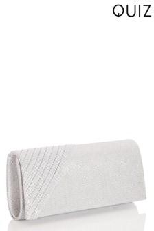 Quiz Textured Pleated Edge Clutch Bag