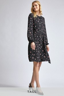Dorothy Perkins Tall Floral Scoop Back Peplum Dress