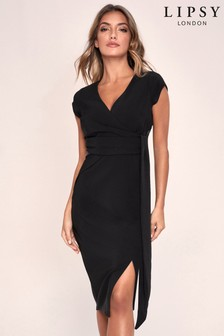 Lipsy Wrap Tie Waist Dress