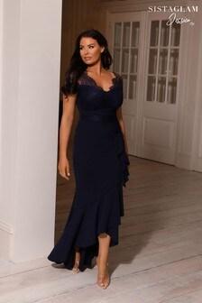 Платье макси 2 в 1 с кружевом и удлиненным подолом Sistaglam Loves Jessica