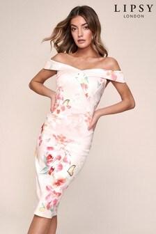 Lipsy Scuba Bardot Midi Dress