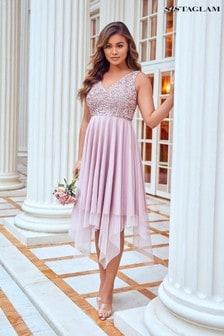 שמלת סקייטר עם פייטים של Sistaglam