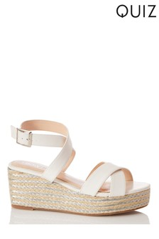 Quiz Wrap Ankle Strap X Vamp Wedge
