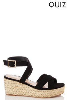 Quiz Wrap Ankle Strap X Vamp Wedges