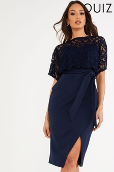 Quiz Tie Belt Batwing Dress