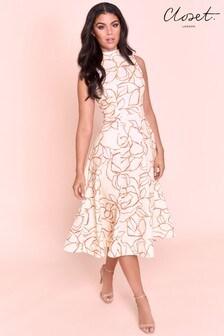 فستان مقسوم بياقة منCloset