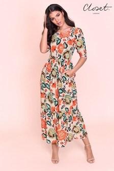 فستان مجمع بكم منفوخ منCloset