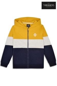Threadboys Color-Block Zip Through Hoodie