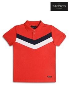 Threadboys Poloshirt mit Zickzackstreifen