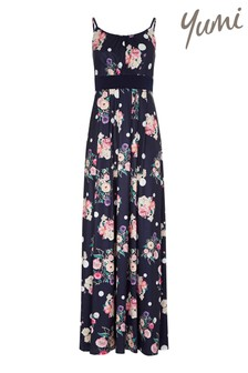Yumi Cluster Floral And Spot Maxi Dress