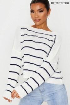 PrettyLittleThing - Gebreide trui met dunne strepen