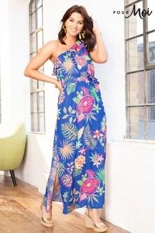 Pour Moi  Frill Detail One Shoulder Woven Maxi Dress