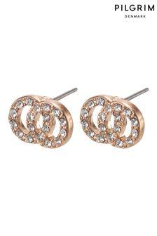 Pilgrim Plated Crystal Earrings