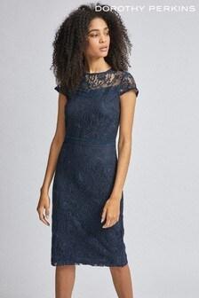 Dorothy Perkins Lace Trim Pencil Dress