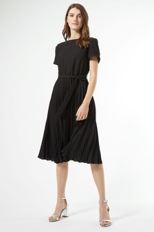 Dorothy Perkins天使袖褶飾過膝連衣裙