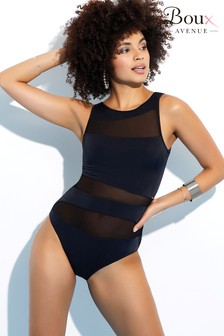 Boux Avenue Latina High Neck Mesh Swimsuit