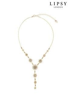 Позолоченное ожерелье с подвеской Lipsy