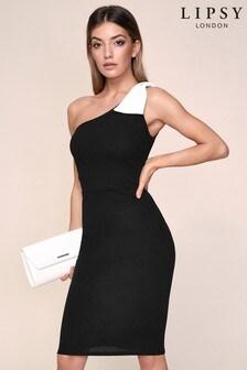 فستان ضيق بكتف واحد بأربة منLipsy