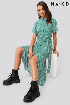 NA-KD Abstract Spot Printed Shirt Dress