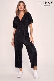 Lipsy Plisse Culotte Jumpsuit (R41625) | $50