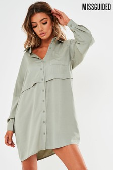 Missguided Utility Shirt Dress