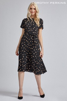 Dorothy Perkins Polka Dot Pleat Midi Dress