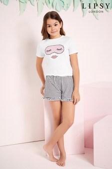 Lipsy Girl Printed Short PJ Set