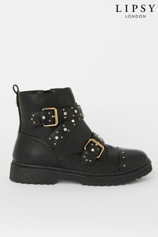 Lipsy Girl Stud Biker Boot