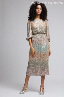 Dorothy Perkins Ombre Sequin Midi Dress