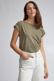 Dorothy Perkins - T-shirt met opgerolde mouwen