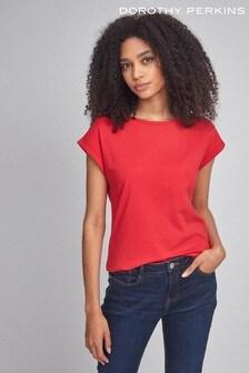 Dorothy Perkins T-Shirt mit Krempelärmeln