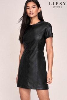 فستان انسيابي جلد صناعي منLipsy
