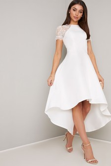 Chi Chi London Bridal High Neck Embellished Maxi Dress
