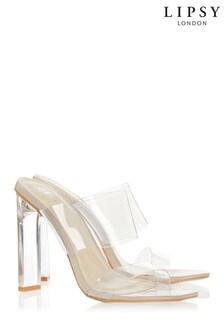 Lipsy Chic Schuhe mit Plexiglas-Absatz