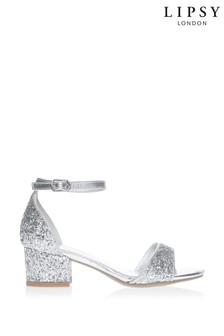 Lipsy Spot On Closed Back Glitter Block Heel Sandal
