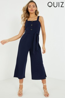 Quiz Strappy Button Front Jumpsuit