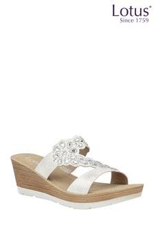 Lotus Wedge Mule Sandal