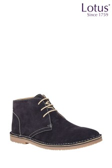 Lotus Suede Lace Up Desert Boots