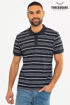 Threadbare Striped Polo T-Shirt