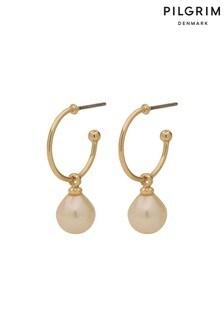 PILGRIM Eila Plated Pearl Earrings