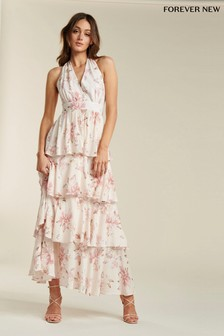 Forever New Halterneck Layered Maxi Dress