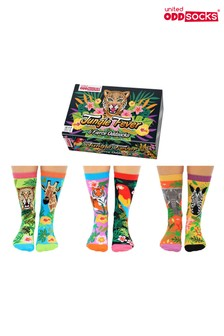 United Odd Socks Adults Jungle Fever Soft Gift Box