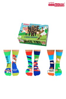 Sock Academy Adults Nice Try! Rugby Sock Gift Box
