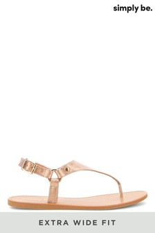 Simply Be Extra Wide Fit Tampa Harness Toe Post Sandals