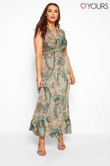 Yours Curve Paisley Knot Front Maxi Dress