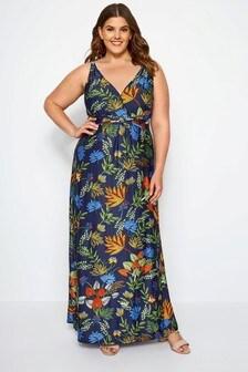 Yours Curve Tropical Print Maxi Dress