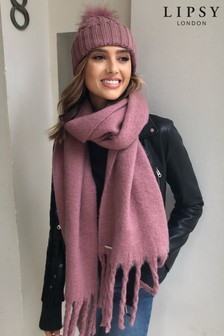 Lipsy Cable Knit Pom Hat