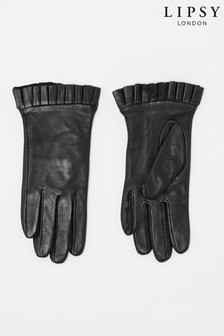 Lipsy Leather Ruffle Gloves